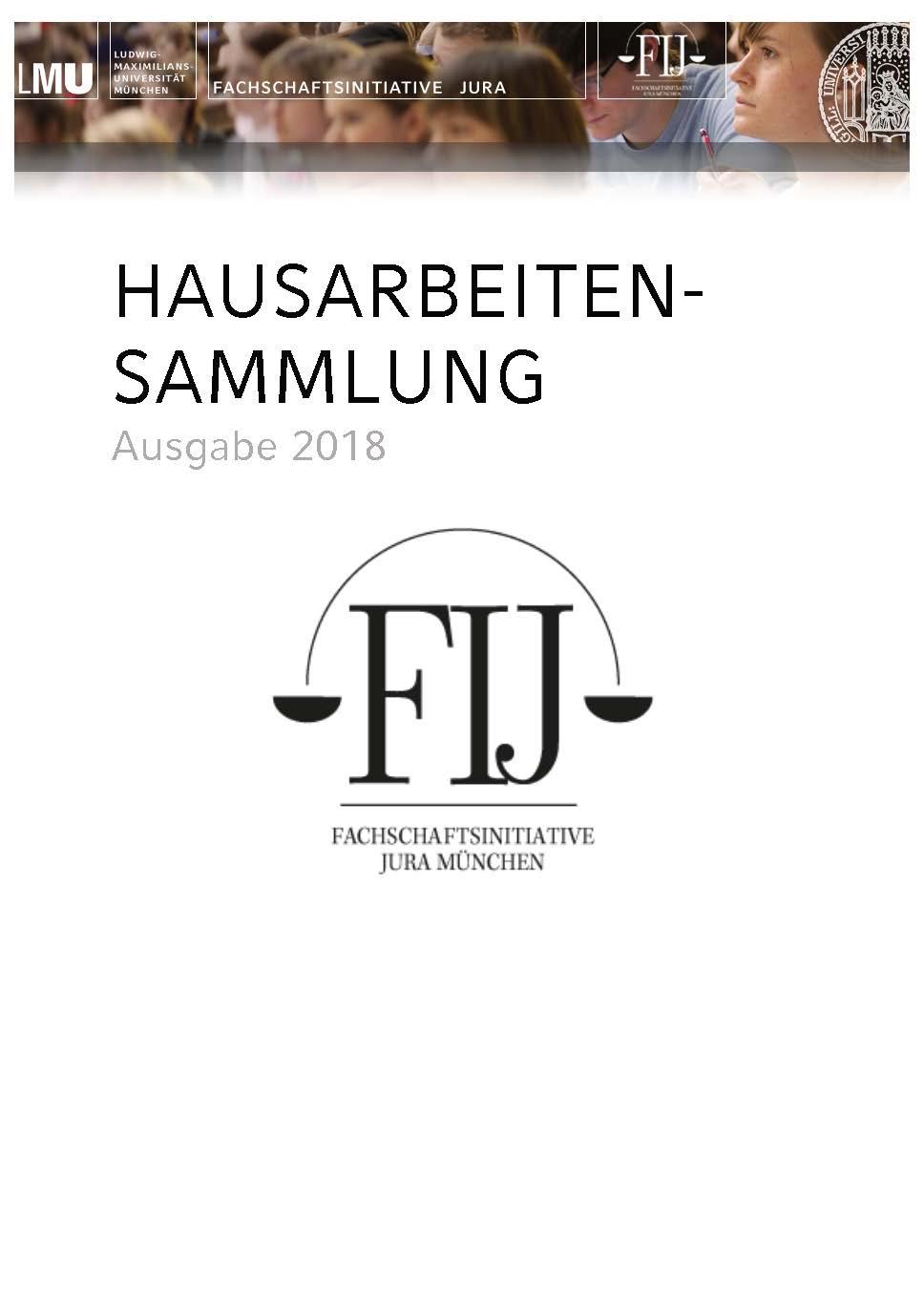 Hausarbeitensammlung Grundkurse Fachschaftsinitiative Jura Lmu